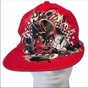 Disney park Mickey Mouse red black hat